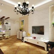 客厅电视背景墙文化砖
