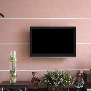 粉色调硅藻泥电视墙