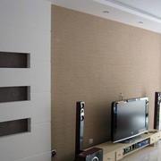 浅色调硅藻泥电视墙