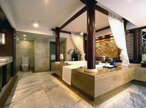 现代都市三居室小卫生间装修效果图