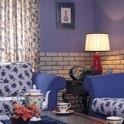 客厅沙发文化砖背景墙