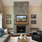 美式风格的客厅文化砖