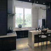 开放式厨房装修实景图