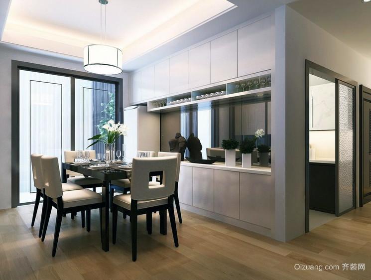 典雅精致的大户型开放式厨房装修效果图