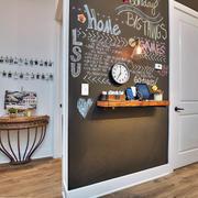 120平米欧式大户型客厅背景墙画设计
