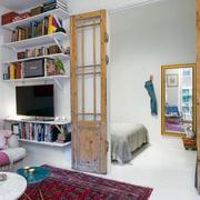 50平米户型之客厅混搭色彩展示