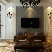 欧式风格硅藻泥电视墙