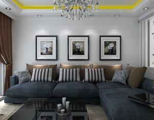 唯美时尚的大户型顾家沙发背景墙装修效果图
