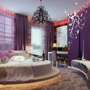 紫色浪漫的酒店装饰