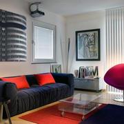 混搭色欧式客厅设计60平米
