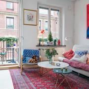 50平米户型之沙发混搭色设计