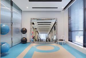 健身会所轻快风格背景墙设计