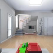 客厅实木地板装修灯光设计
