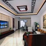 中式客厅装修背景墙图
