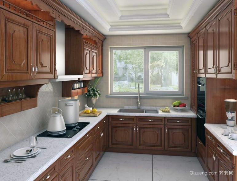 时尚别墅型简欧风格厨房装修效果图