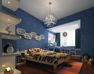 时尚的大户型儿童房设计装修效果图