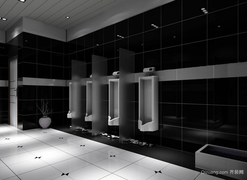 高级酒店餐厅公共卫生间装修效果图