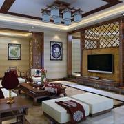 中式客厅装修灯光设计