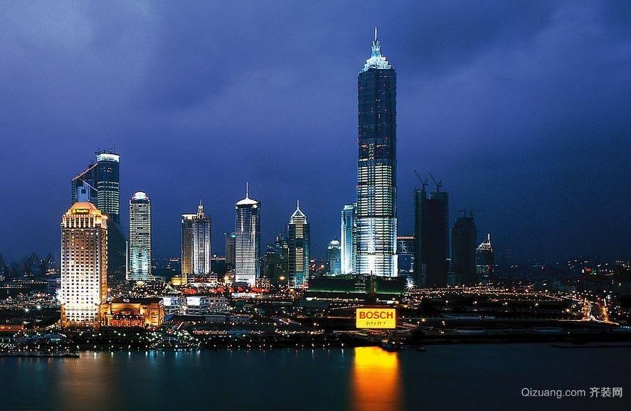 高耸入云的中国上海金茂大厦效果图