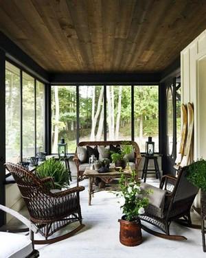 享受生活:别墅阳光房装修设计效果图
