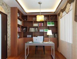 中式书房书架装修