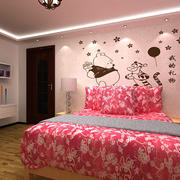 简约卡通装饰卧室背景墙