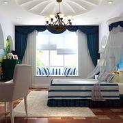 地中海风格卧室设计飘窗图