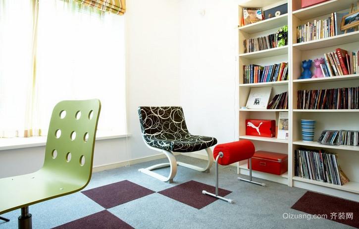 复式楼唯美风格小书房装修效果图