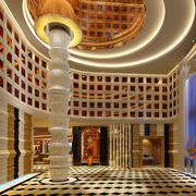 大型欧式美容院会所前厅效果图