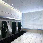 黑白系列的男卫生间