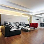 客厅实木地板装修效果图