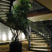 冷色调楼梯装修设计