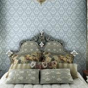 欧式奢华别墅卧室背景墙装修