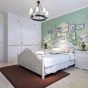 地中海风格卧室设计背景墙