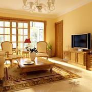 欧式风格客厅电视柜装修