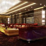 欧式奢华美容院会所休息厅设计