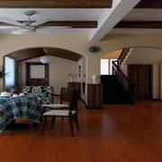 客厅实木地板装修整体图