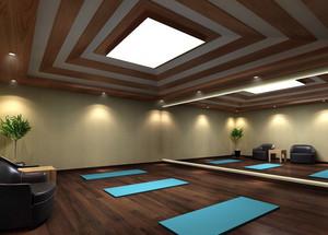 现代简约风格高档瑜伽馆会所装修效果图