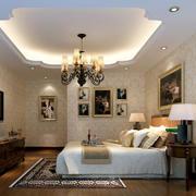 欧式大方简约卧室背景墙设计