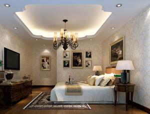 30平米欧式卧室硅藻泥背景墙效果图