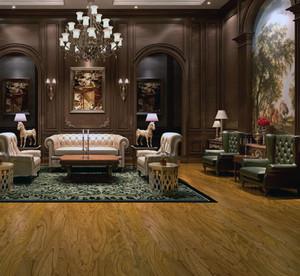 大户型欧式客厅实木地板装修效果图