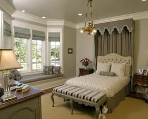 素雅温婉的卧室飘窗装修设计效果图