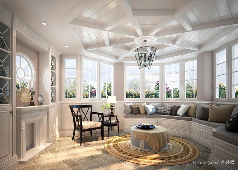大气精巧的阳光房装修设计效果图