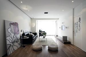 科技之光:120平米大户型客厅3D电视背景墙图