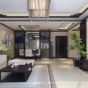 中式客厅装修吊灯图