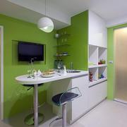 客厅简约系列绿色背景墙