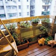 木质风格阳台装修设计