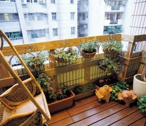 空中花园:高层小区阳台装修效果图