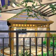 阳光房绿化展示
