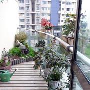 阳台盆栽摆放设计
